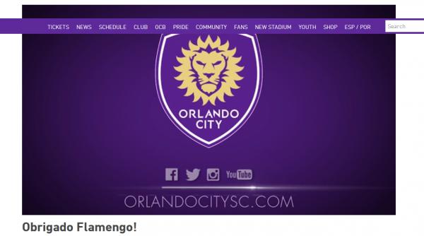 Primeiro time americano a jogar no Maraca, Orlando City agradece convite com vídeo enaltecendo o Mengão