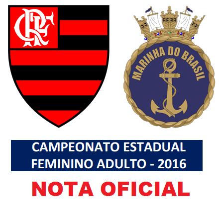 Nota oficial – Liga Rio das Ostras x Flamengo/Marinha