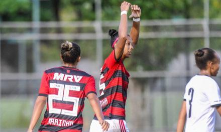 Raiza e Flávia são responsáveis por 56% dos gols do Flamengo/Marinha em 2019