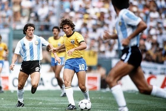 zico seleção brasil argentina