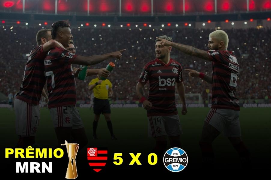 Prêmio MRN: Flamengo 5 a 0 no Grêmio vence como o jogo do ano