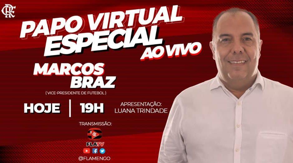 """Braz, sobre renovação de Jesus no Flamengo: """"Todos os esforços serão feitos"""""""