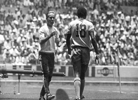 Copa do Mundo de 1970. Zagallo e Paulo Cesar