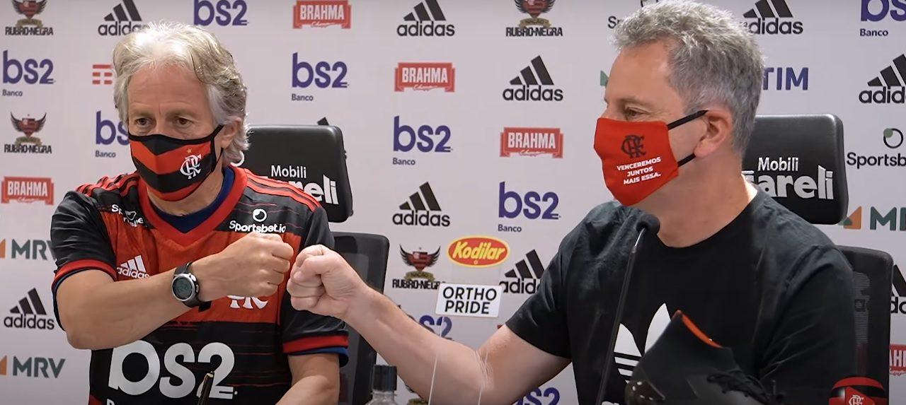 Em vídeo da Fla TV, Flamengo anuncia renovação de contrato de Jorge Jesus