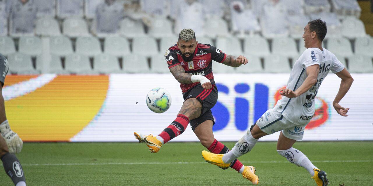 Flamengo é o time que mais cria grandes chances de gol no Brasileirão