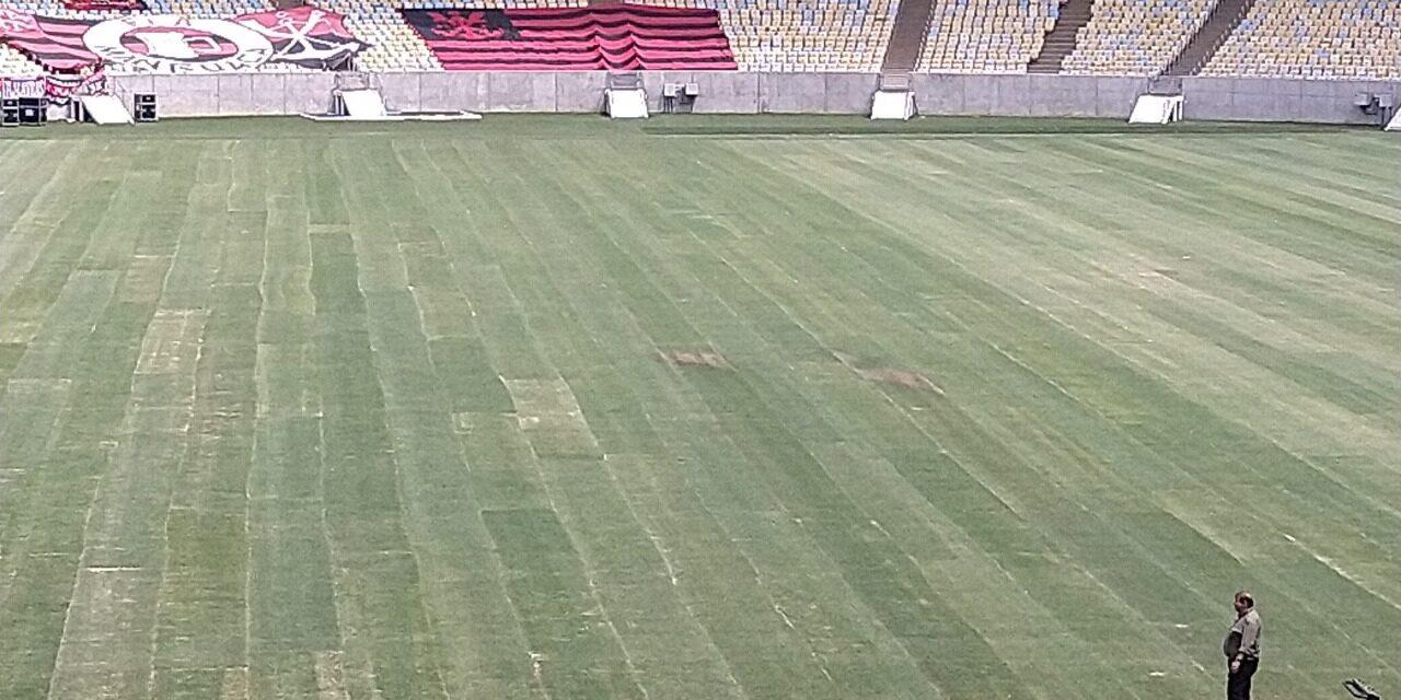 "Empresa afirma que gramado do Maracanã estará ""8,5"" para o jogo da Libertadores"