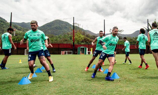 Arrascaeta treina com o grupo e Dome indica trocas contra o Junior Barranquilla