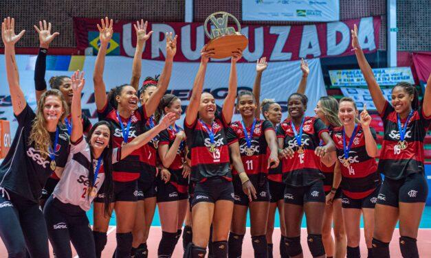 É campeão! Sesc-Flamengo conquista estadual de vôlei feminino sobre o Fluminense e põe fim a jejum