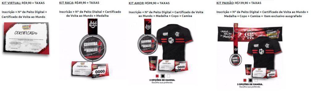 flamengo kits corrida virtual 2020