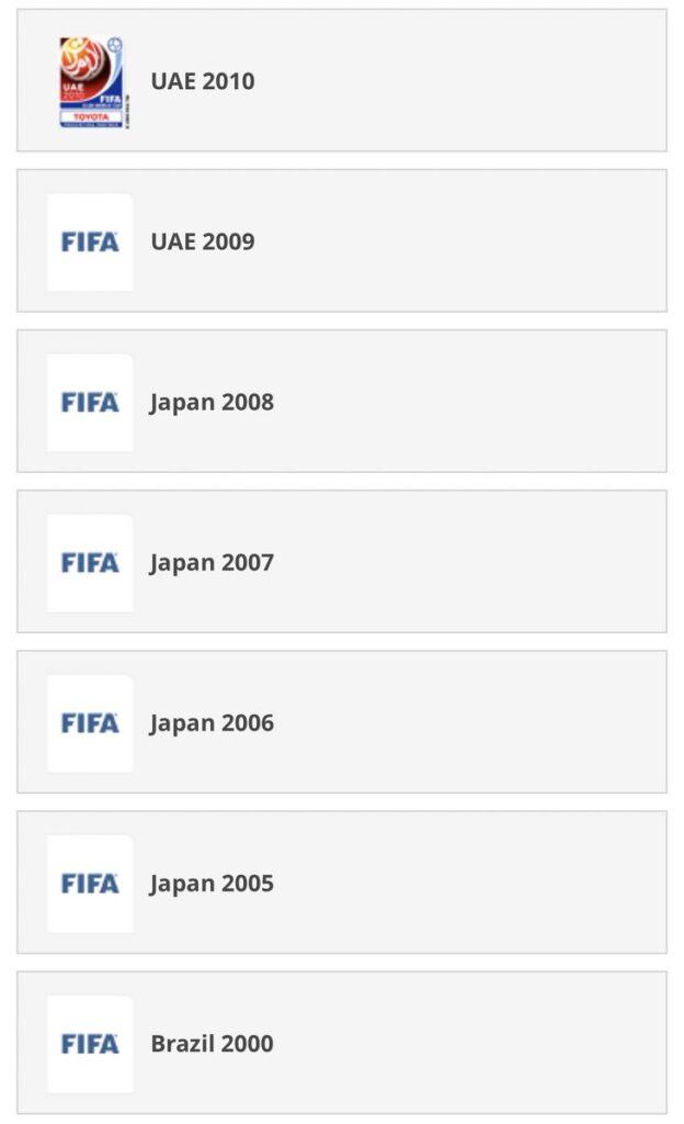 lista de campeões da copa intercontinental