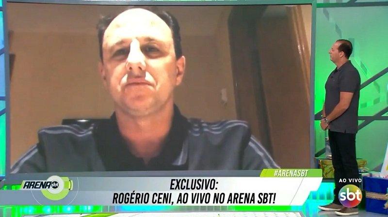 O técnico do Flamengo concedeu entrevista ao vivo ao programa Arena SBT na última segunda-feira, 21