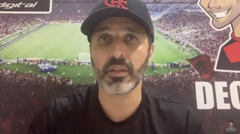 Em seu canal no YouTube, Deco analisa sistema tático de Rui Vitória, fala sobre Gallardo e faz críticas ao VP do Flamengo, Marcos Braz
