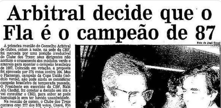 flamengo campeão 1987