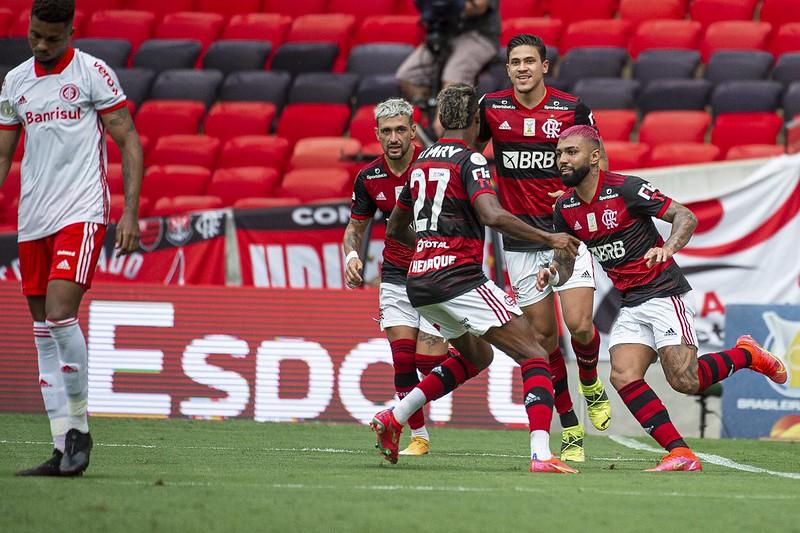 Quarteto ofensivo Flamengo ataque Gabigol, Pedro, Bruno Henrique e Arrascaeta