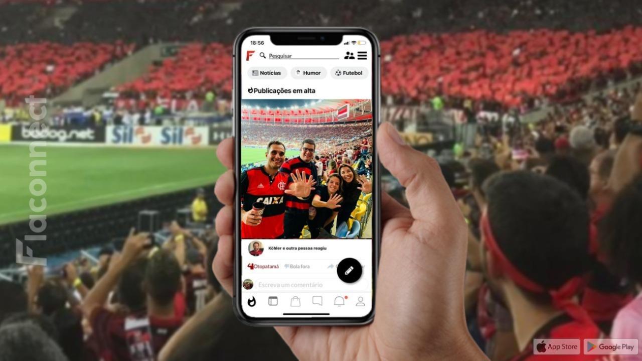 Flaconnect é uma rede social exclusiva para torcedores rubro-negros