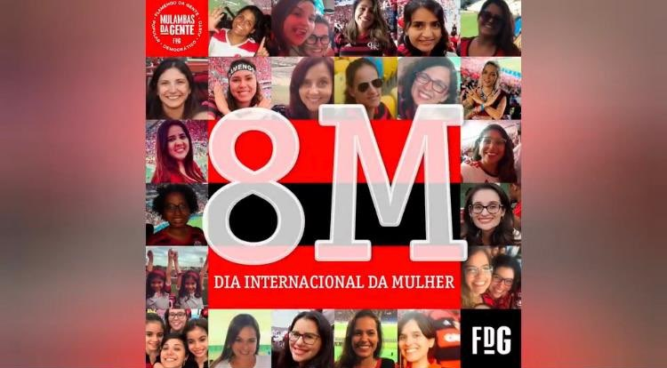 Dia Internacional da Mulher Flamengo
