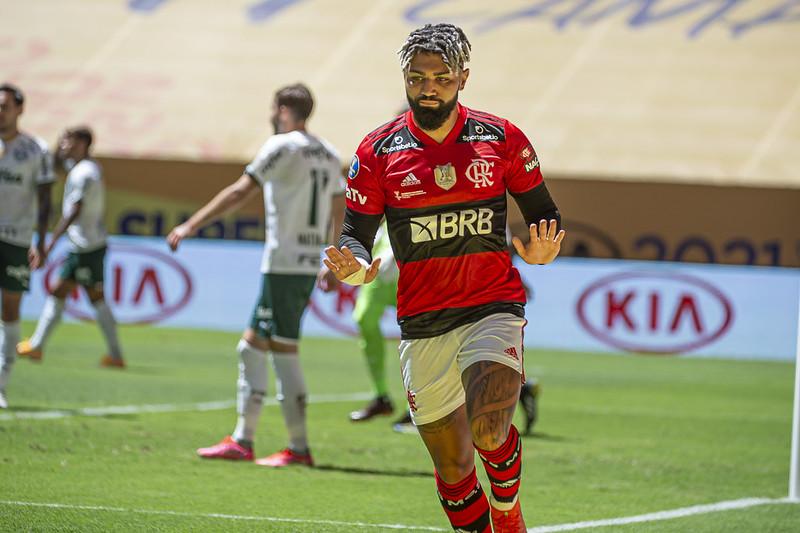 Gabigol jogadores do Flamengo zoam palmeiras após titulo da supercopa