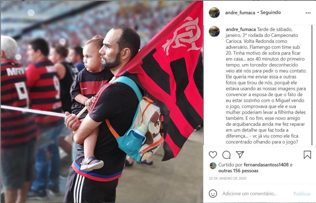 André fumaça é responsável por criar os mosaicos do Flamengo no Maracana