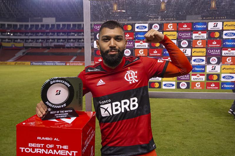 Gabigol Flamengo melhor em campo na Libertadores