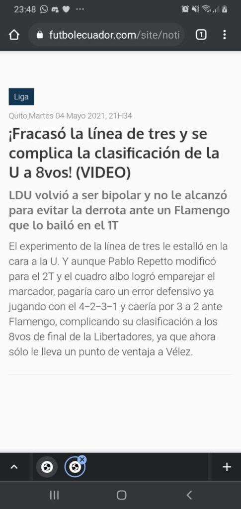 flamengo ldu libertadores