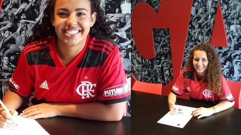 ana beatriz ana laura futebol feminino base flamengo 2021