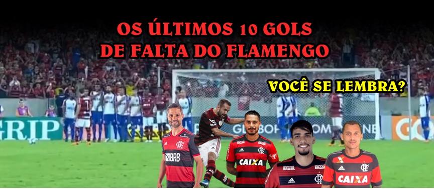 gols de falta flamengo