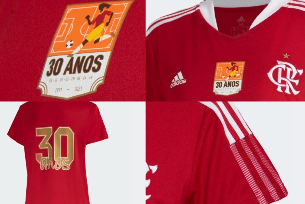detalhes camisa flamengo adidas copa do mundo feminina